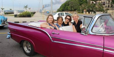 cathy-karen-peggy-and-terri-in-1950s-convertible