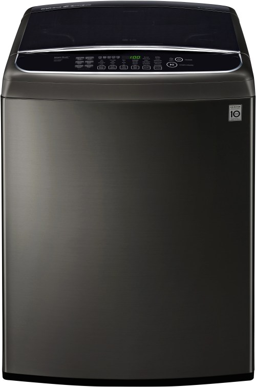 small resolution of ft black stainless steel top load washer wt1901ck lg