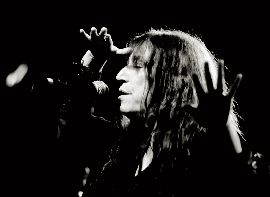 Patti Smith, cantante y poeta. Valencia.