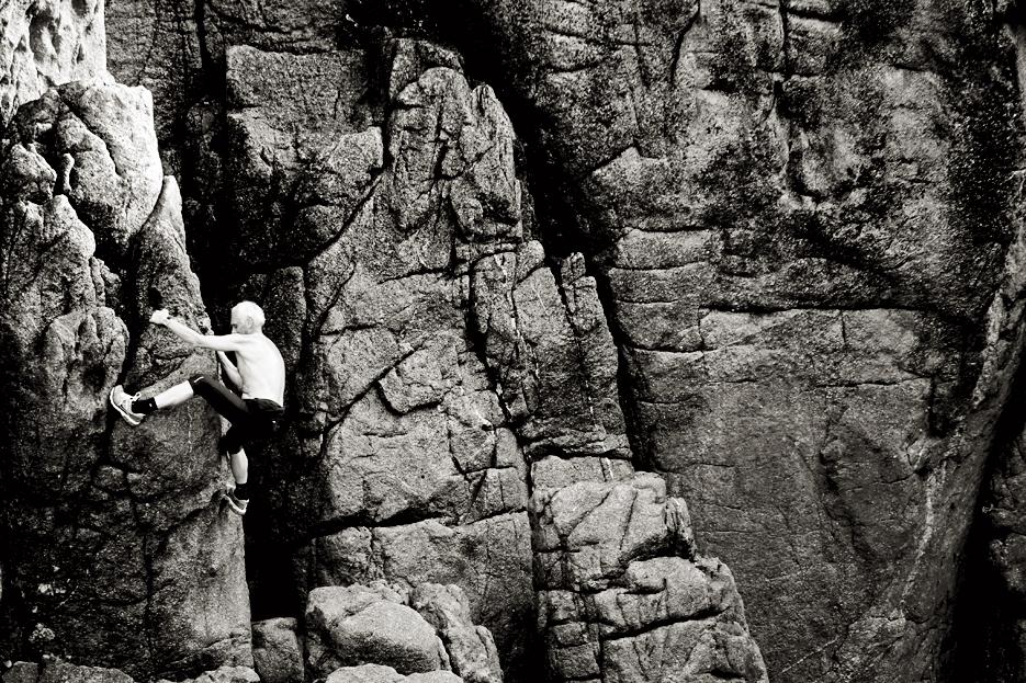 El hombre que saltaba acantilados
