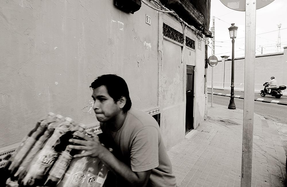 El muro del Marylins, en la calle Denia de Valencia.