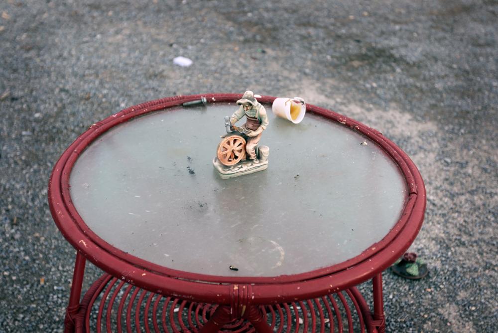 La mesa al aire libre. Enero de 2014