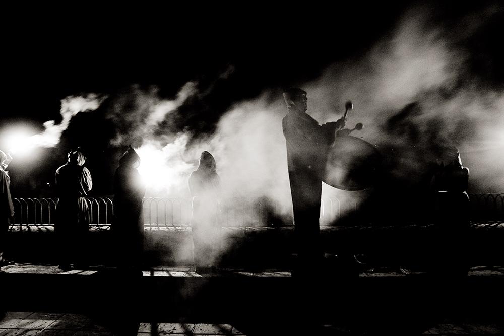 El espectáculo nocturno.