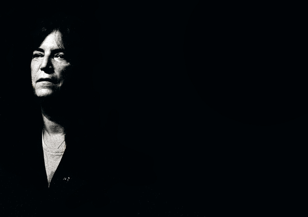 Patti Smith emerging from the darkness