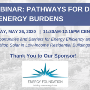 TEPRI Webinar: Pathways for DERs to Reduce Energy Burdens