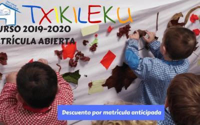 Matrícula abierta curso 2019-2020
