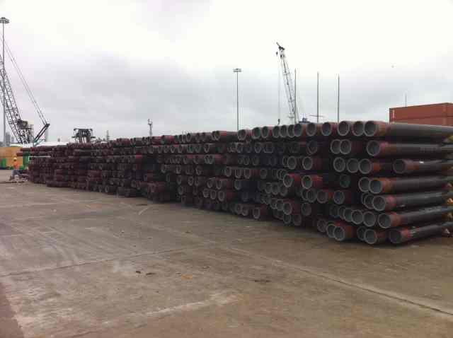 Pipe shipping by break bulk