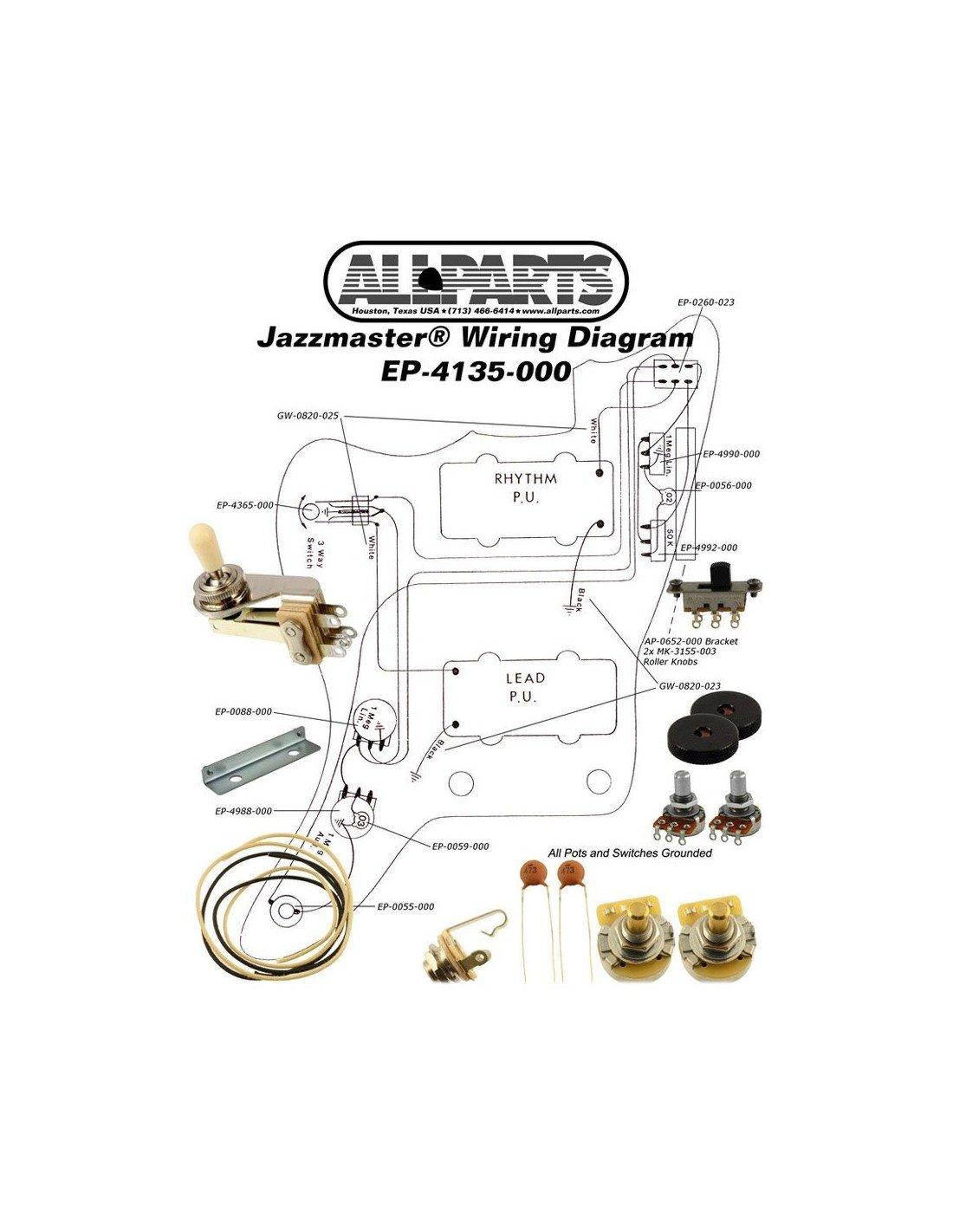 Comprar Allparts EP-4135-000 Wiring Kit for Jazzmaster