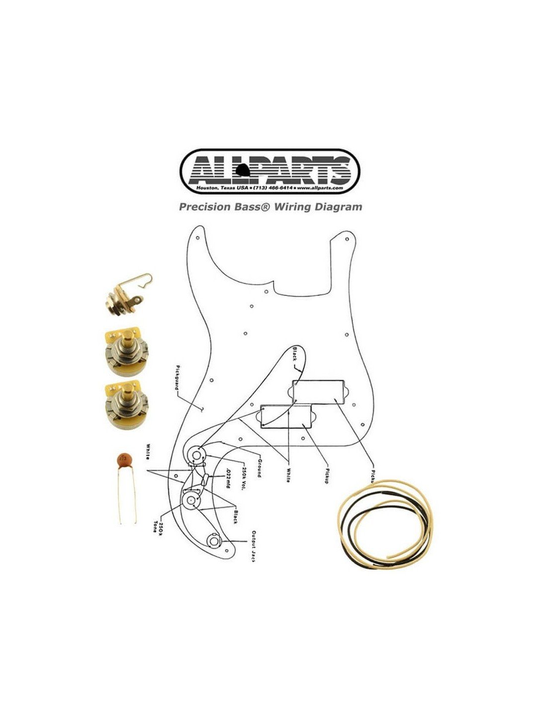 Comprar Allparts Ep 000 Wiring Kit For Precision