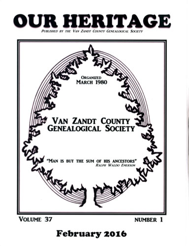2016 Quarterly Winner Van Zandt County