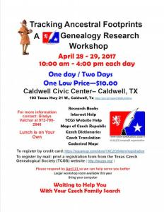 Tracking Ancestral Footprints: A TCGS Genealogy Research Workshop