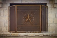 Texas Lone Star Fireplace Screen