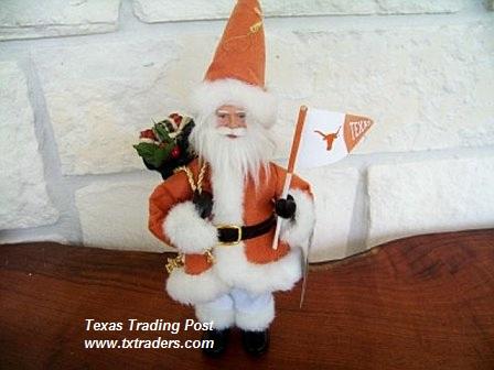 Texas Longhorn Santa U T Christmas