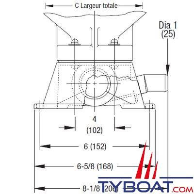WC électrique Jabsco Quiet Flush 37245-0092 avec pompe 12V