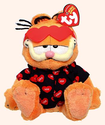 Happy Valentines Day Garfield Ty Beanie Babies