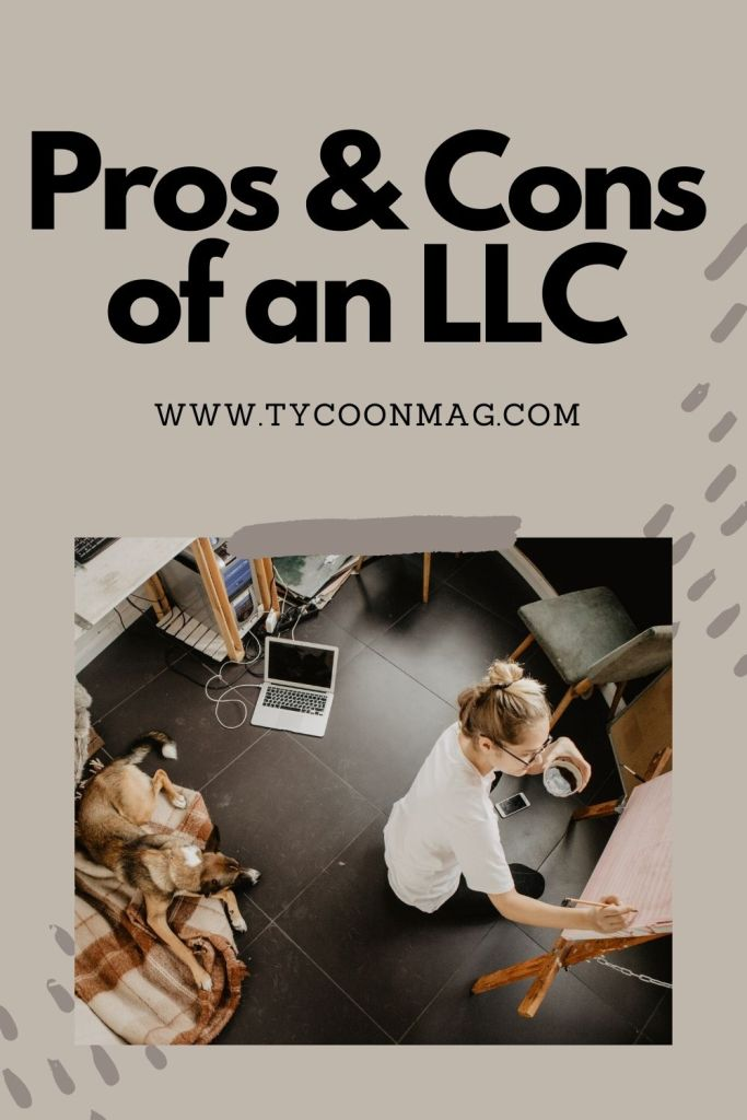 advantages and disadvantages of an llc - featured pin