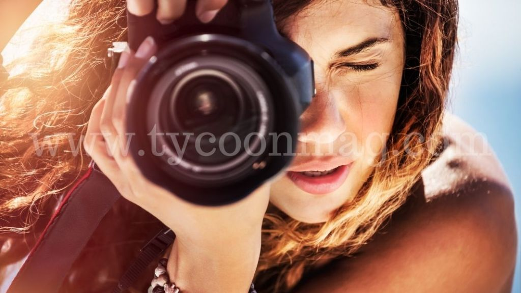 female photographer shooting