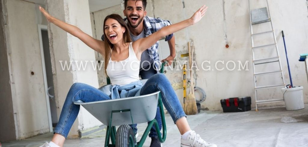 couple on renovation site