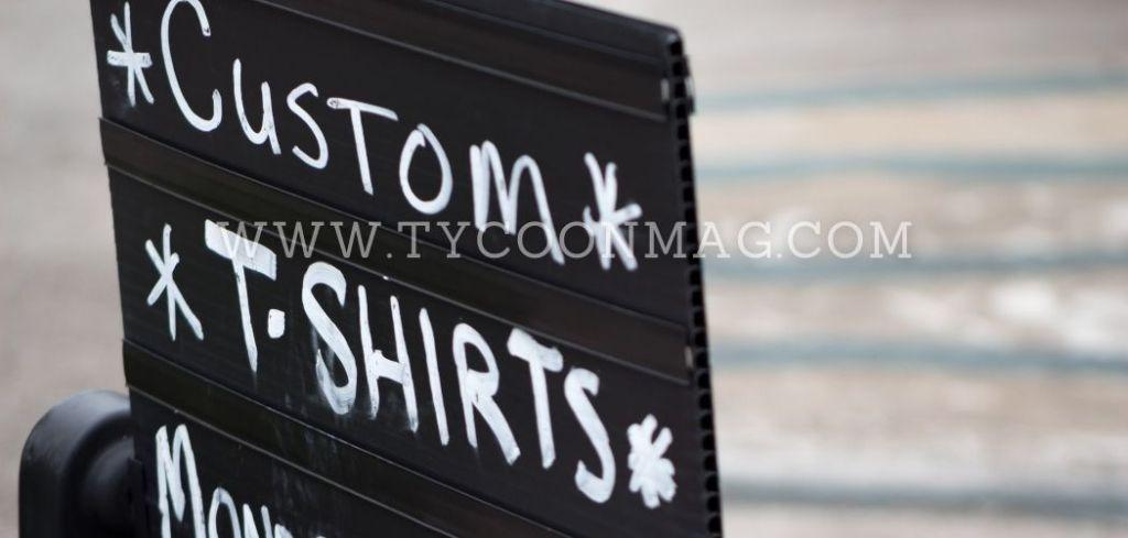 custom shirt sign