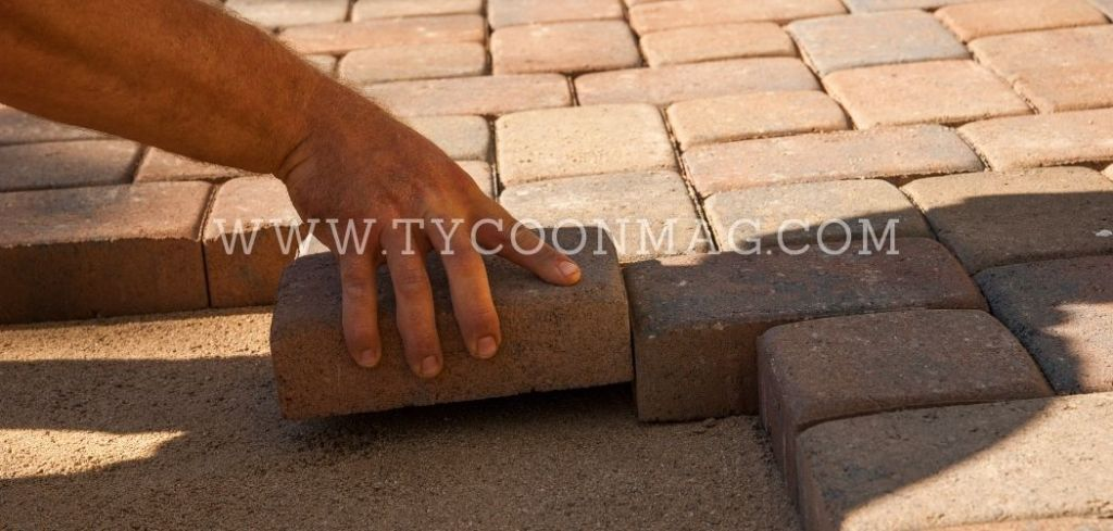 landscaper laying brick