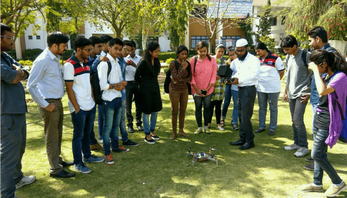An Unmanned Technology workshop organized by Samhams Technologies in GITS Udaipur India
