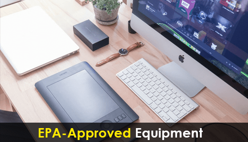 EPA-approved equipment
