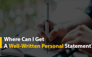 Where Can I Get A Well-Written Personal Statement?