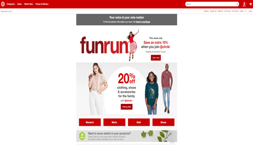 Target USA Online Retail Store