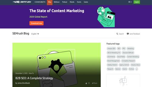 SemRush Digital Marketing Blog