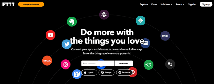 IFTTT eCommerce automation software