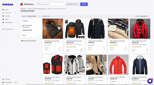 Oberlo eCommerce automation tool