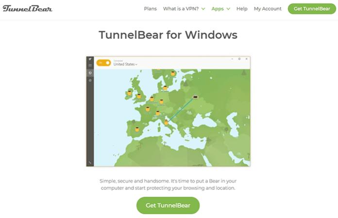 TunnelBear for Widows