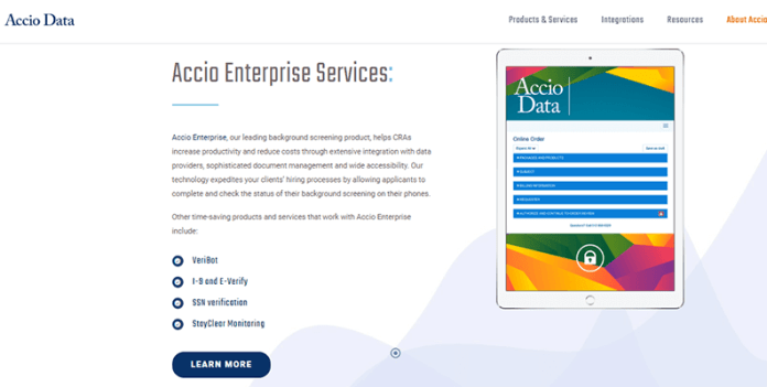 Accio Data highly customizable platform