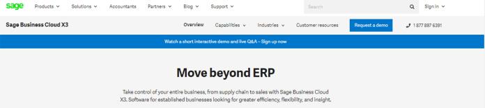 Best ERP Software Sage Business Cloud X3