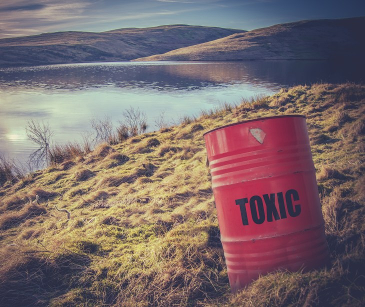 Toxic Waste Near Water