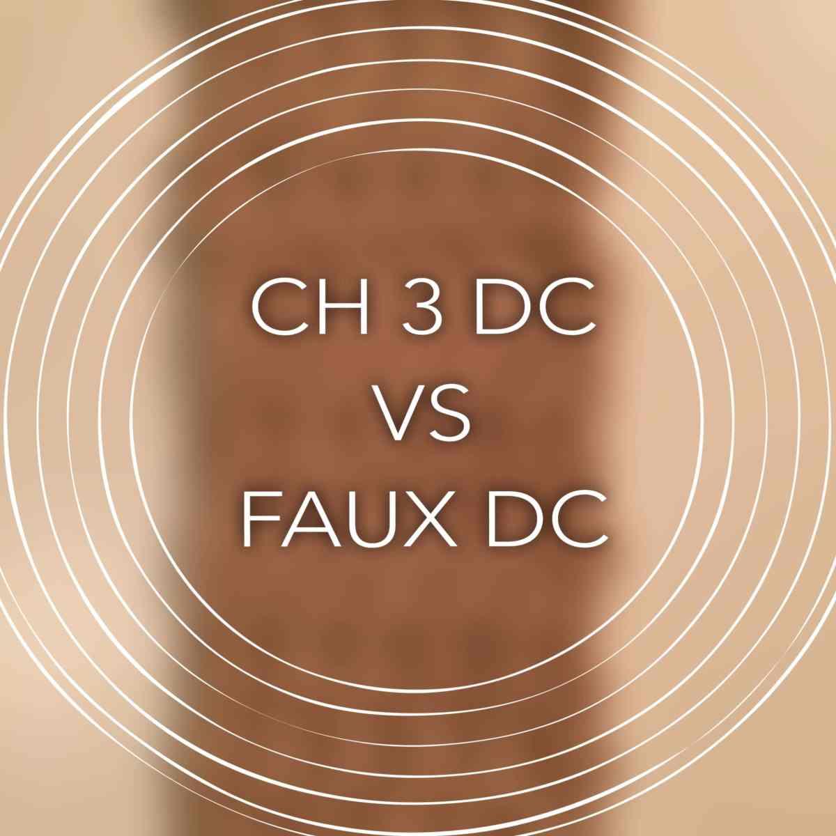 Faux Double Crochet vs CH 3 Double crochet