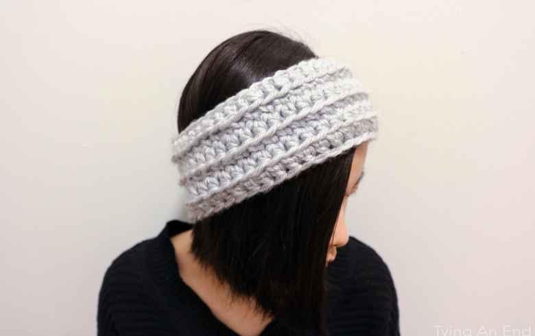 [Free Crochet Pattern] Eve Crochet Headband by Tying An End