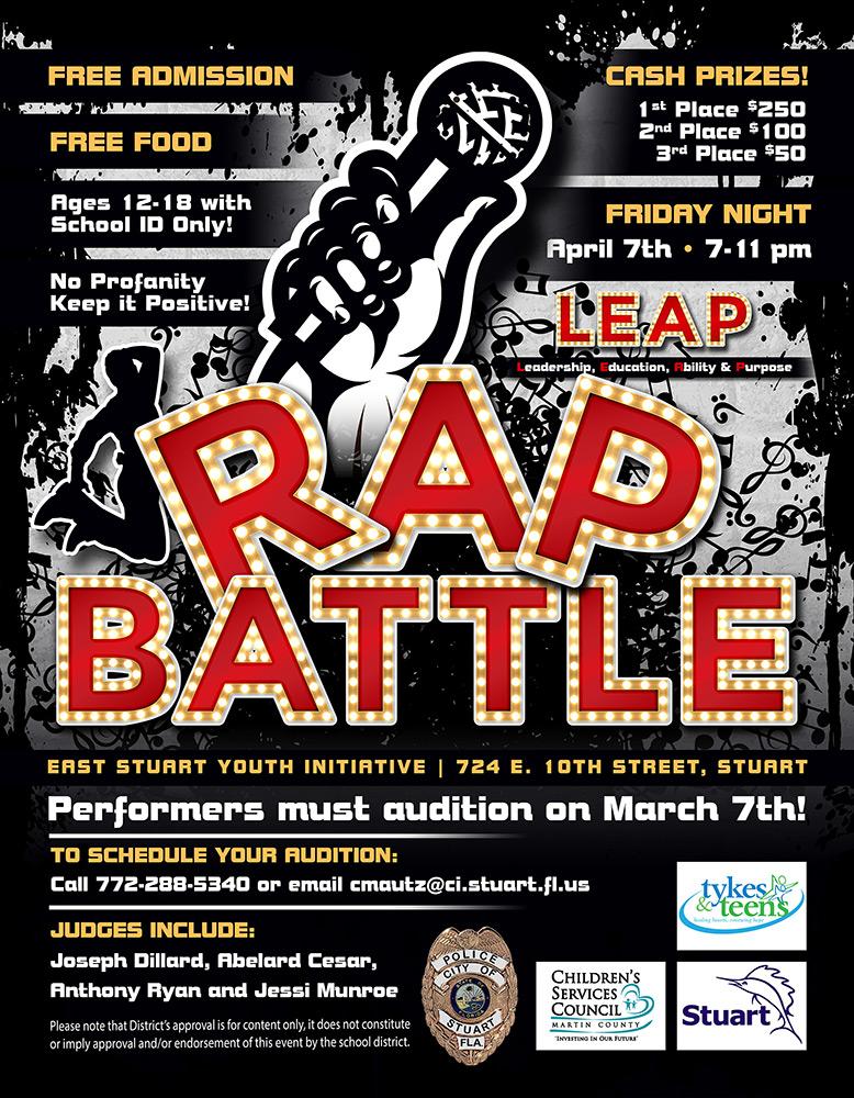 rap battle flyer small tykes teens inc