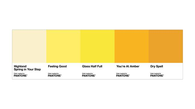Pantone have worked with Highland Spring for their new 'Pee Healthy' Guide