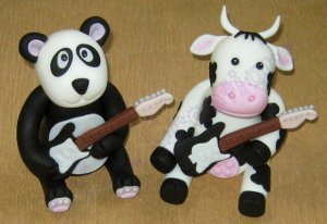 toppers panda cow