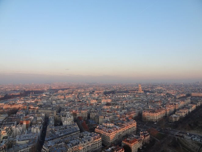 Ariel view from Eiffel Tower in Paris, France