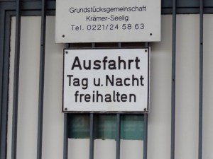 Street sign that says Ausfahrt in Germany