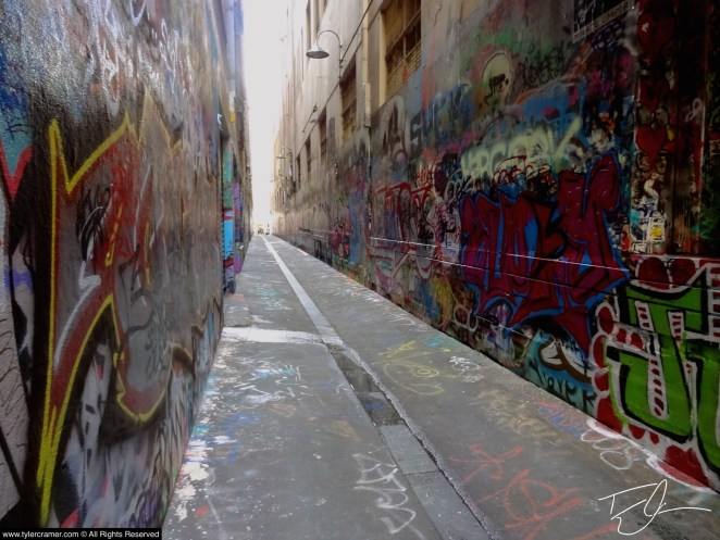 Grafitti in a lane in Melbourne Australia