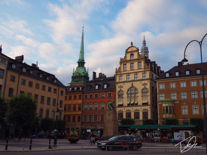 Stockholm city center square