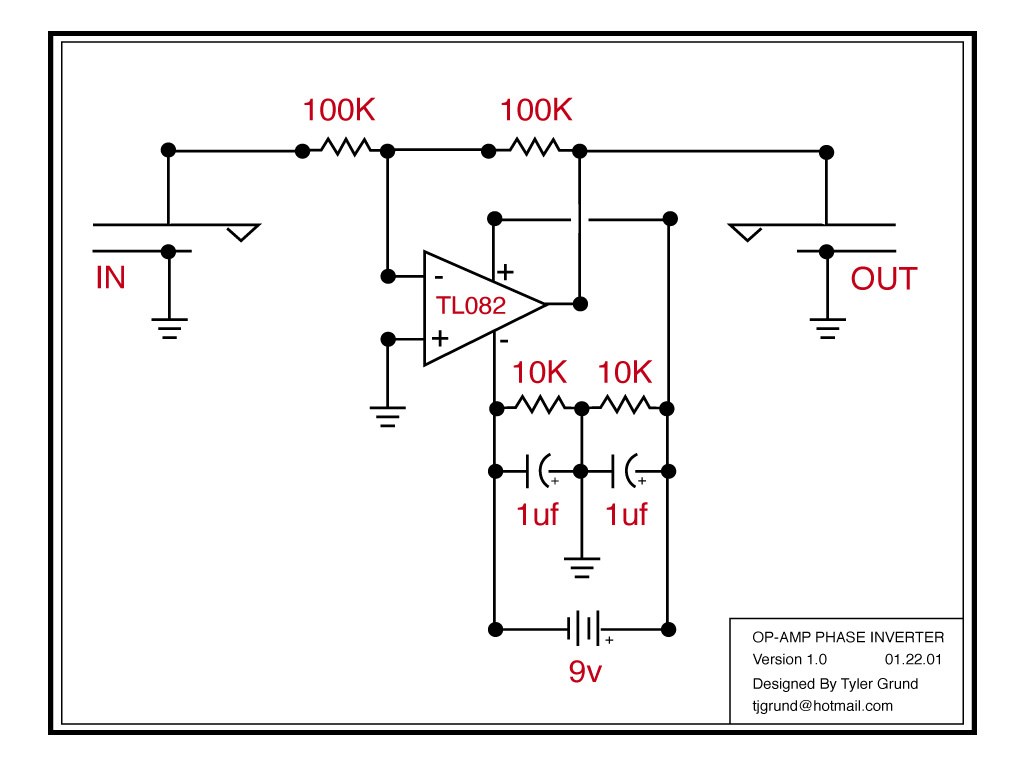the opamp inverter circuit