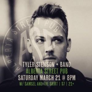 Tyler Stenson at Alberta Street Pub