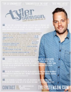 Tyler Stenson Artist One Sheet