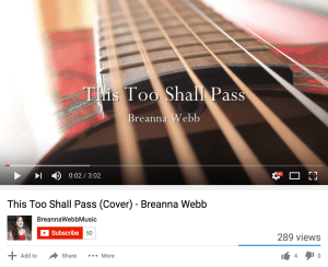 This Too Shall Pass cover song