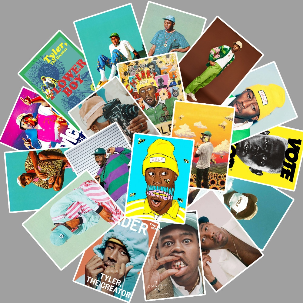 25pcs Rapper Singer Tyler The Creator Portrait Sticker