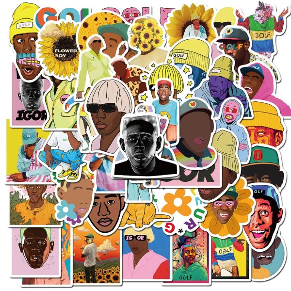 10/50pcs Rapper Tyler The Creator Waterproof Stationery Sticker